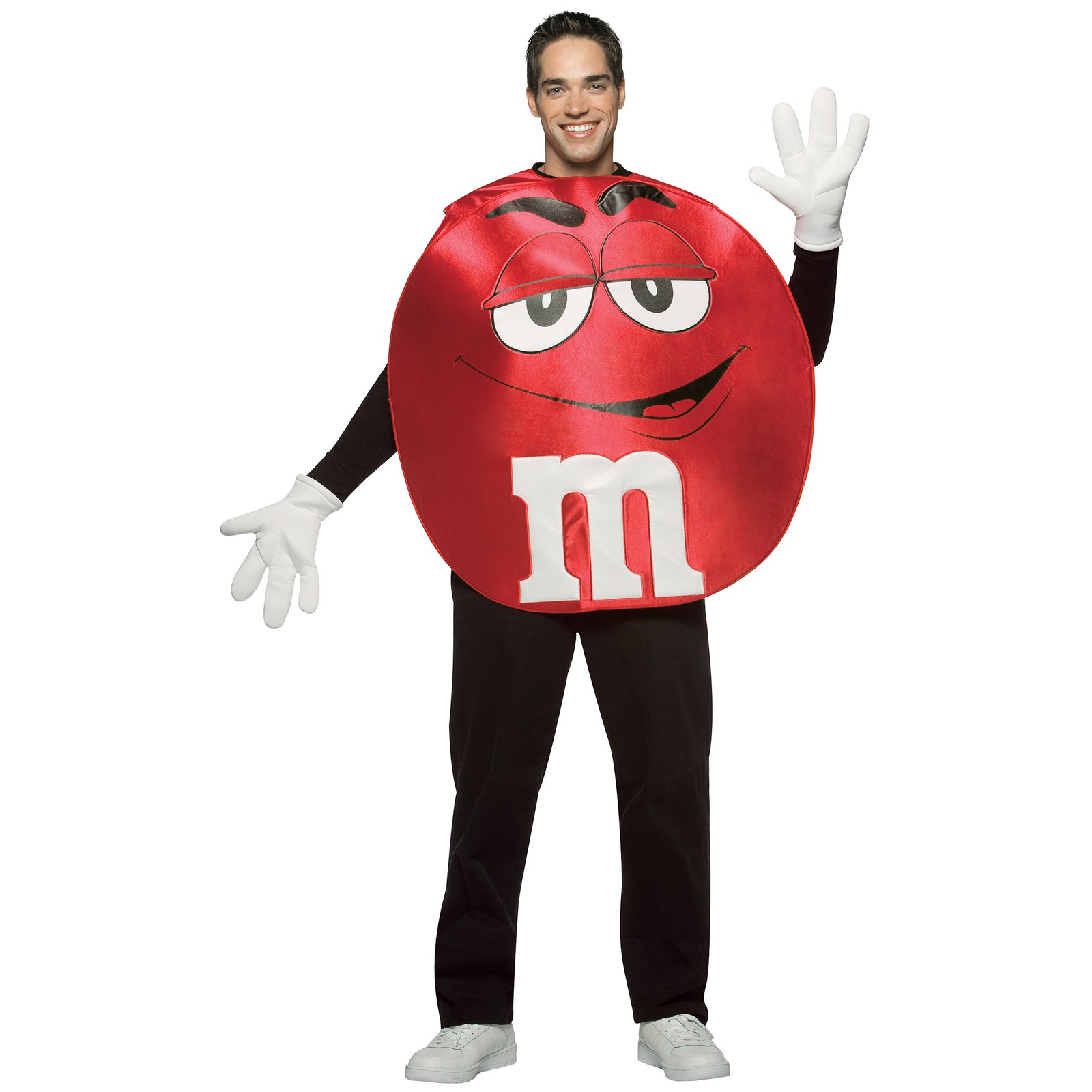 M ms red poncho adult costume for M m halloween decorations