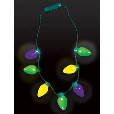 Mardi Gras Light Up Bulb Necklace
