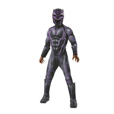 Marvel: Black Panther Movie Super Deluxe Boys Light Up Black Panther Costume