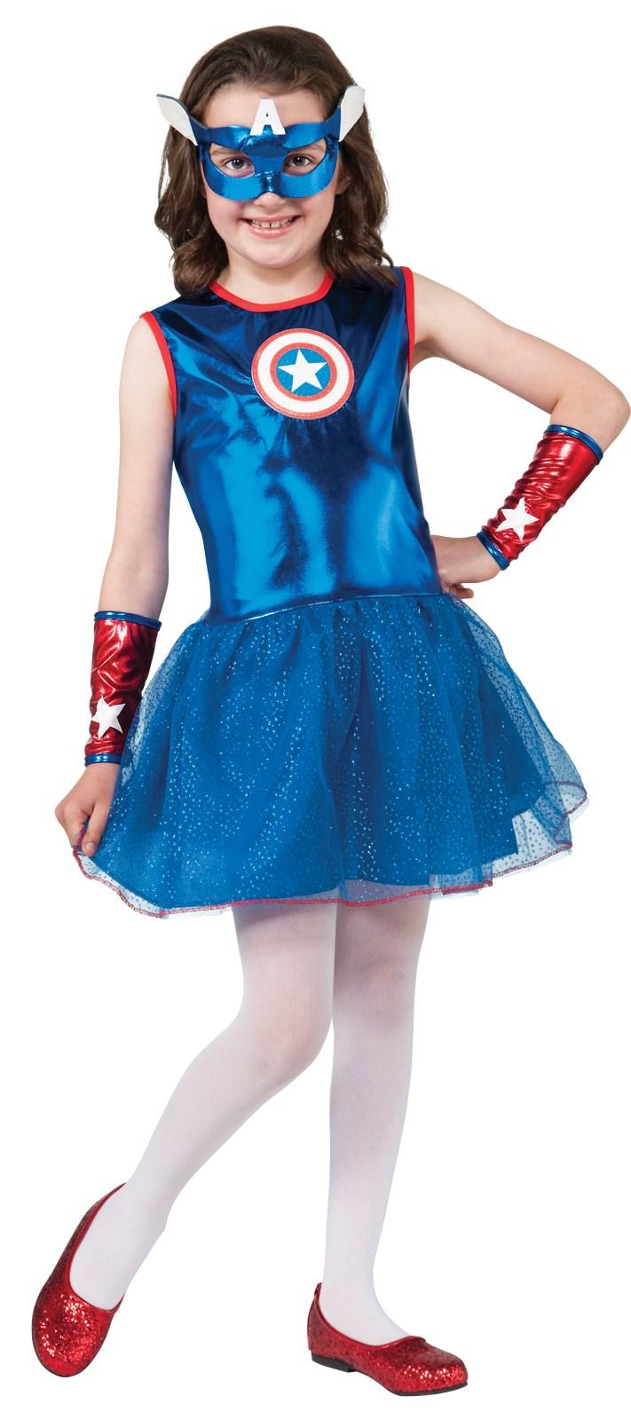 Marvel Captain America Girl Costume | BuyCostumes.com