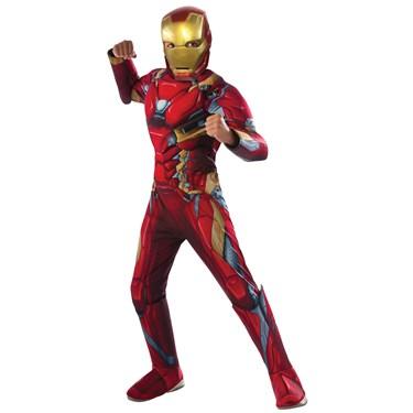 Marvel's Captain America: Civil War Deluxe Iron Man Muscle Chest Costume For Kids