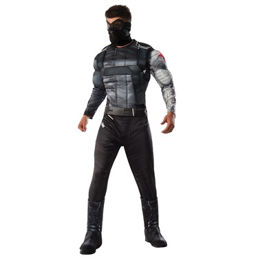 Marvel's Captain America: Civil War Deluxe Mens Winter Soldier Costume