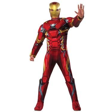 Marvel's Captain America: Civil War Mens Iron Man Deluxe Costume