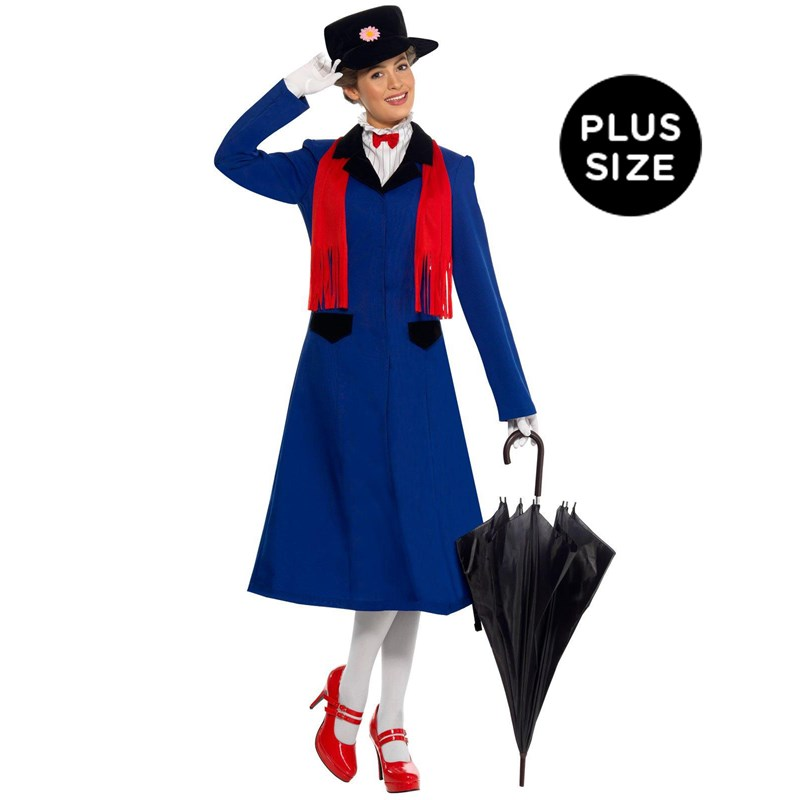Mary Poppins Plus Adult Costume $49.99 AT vintagedancer.com