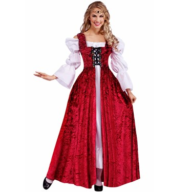 Medieval Lady Lace Up Adult Gown