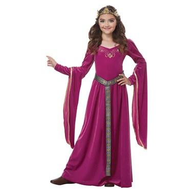 Medieval Princess Fuschia Child Costume