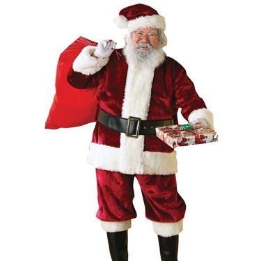 Mens Crimson Regency Plush Santa Suit