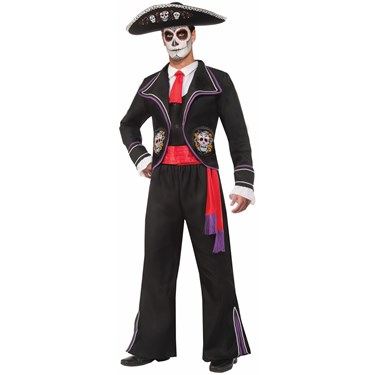 Mens Day Of Dead Macabre Costume