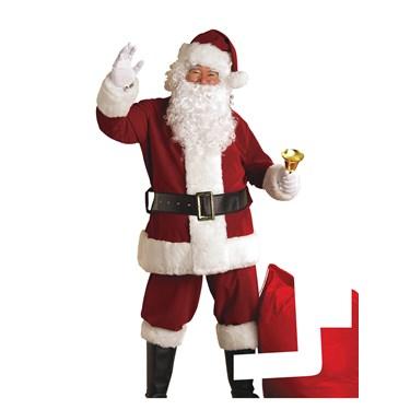 Mens Deluxe Velvet Santa Suit