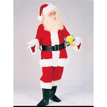 Mens Deluxe Velveteen Santa Suit