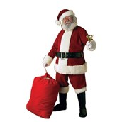 Mens Deluxe XXXL Velvet Santa Suit