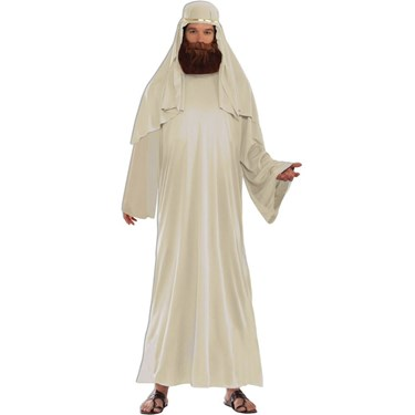 Mens Ivory Biblical Robe With Headdress