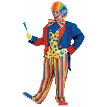 Mens Plus Size Clown Costume