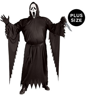 Mens Plus Size Ghost Face Costume