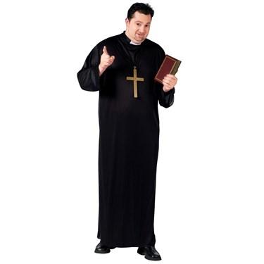 Mens Plus Size Priest Costume
