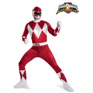 Mens Power Rangers Red Ranger Super Deluxe Costume