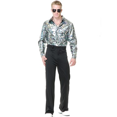 Mens Silver Disco Shirt