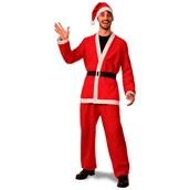 Mens XL Flannel Santa Suit