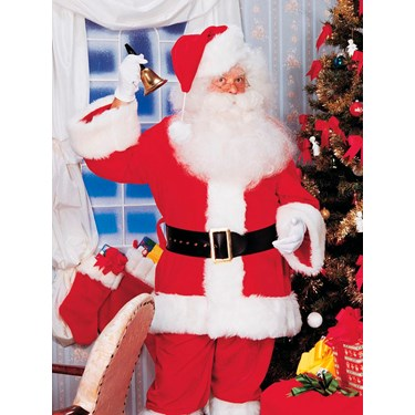 Mens XL Premium Professional Santa Suit
