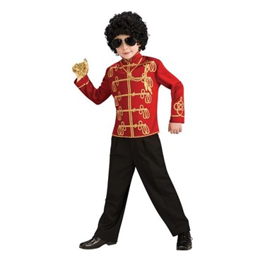 Michael Jackson Red Child Military Jacket