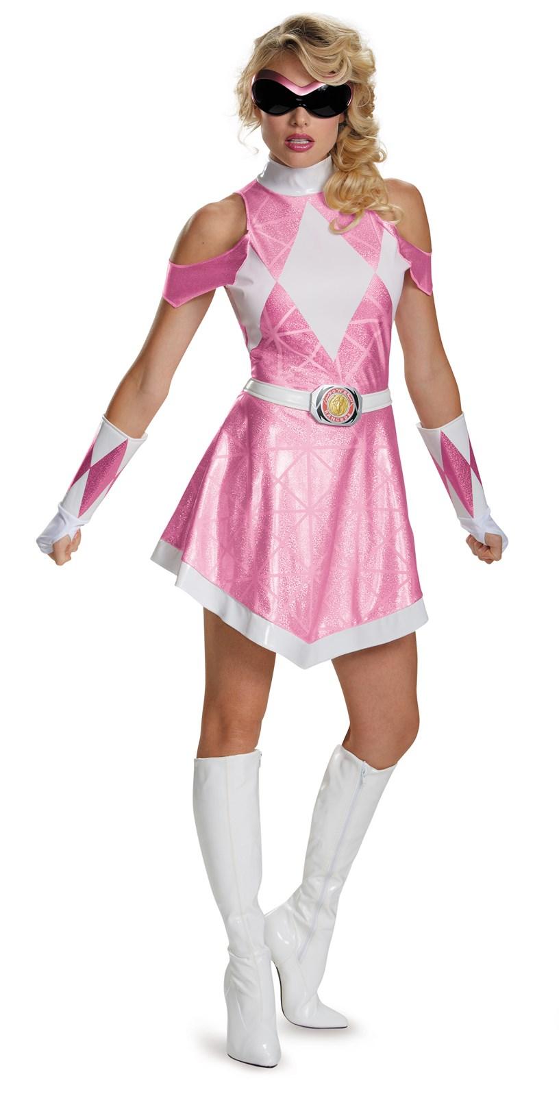 Mighty Morphin Power Rangers: Deluxe Sassy Pink Ranger Costume For ...