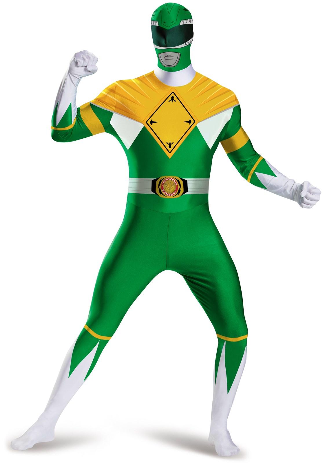 Mighty Morphin Power Rangers: Green Ranger Bodysuit Costume For Men