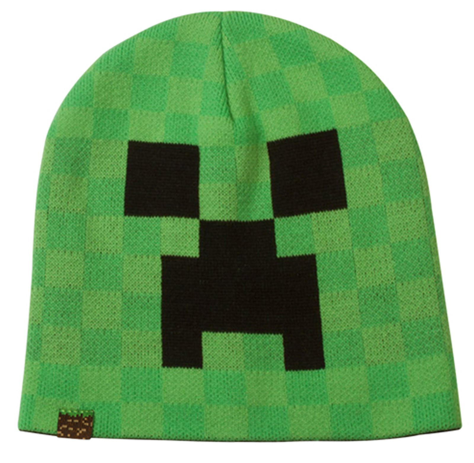 Minecraft Creeper Face Beanie Adult Hat