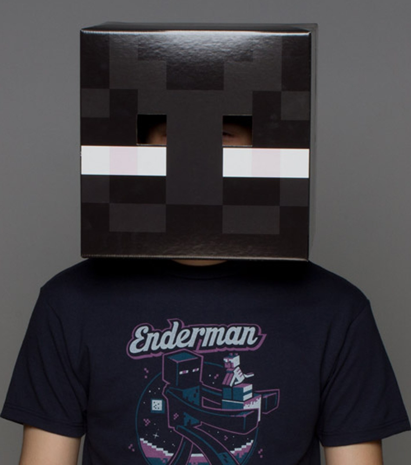 Minecraft Enderman Costume Head For Adults