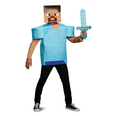 Minecraft  Steve Classic Adult Costume