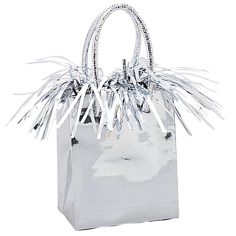 Mini Gift Bag Balloon Weight - Silver