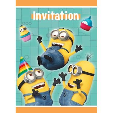 Minions Despicable Me - Party Invitations (8)