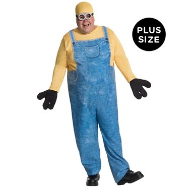 Minions Movie: Minion Bob Plus Size Costume For Adults