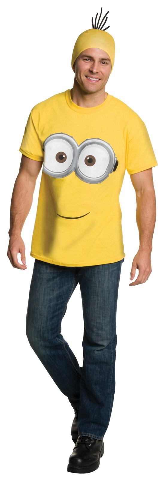 Minions Movie: Minion Shirt & Headpiece For Adults
