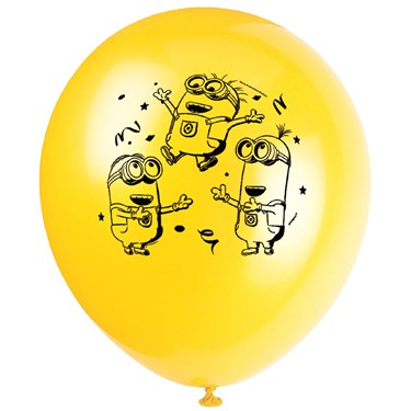 Minions Printed Latex Balloons (8)