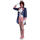Miss Uncle Sam Sequin Adult Costume