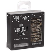 Modern Garden Seed Light String with Remote (10' Long)