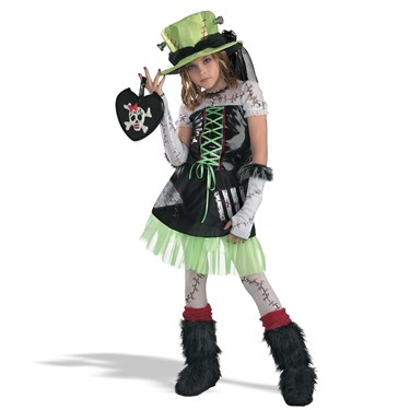 Monster Bride (Green) Child Costume