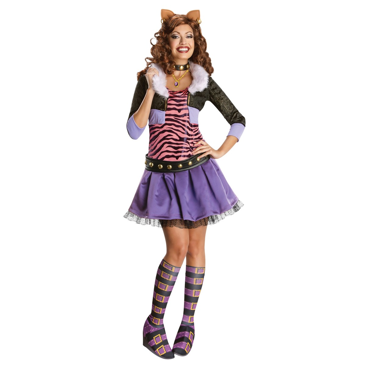 Monster High Deluxe Clawdeen Wolf Adult Costume | BuyCostumes.com