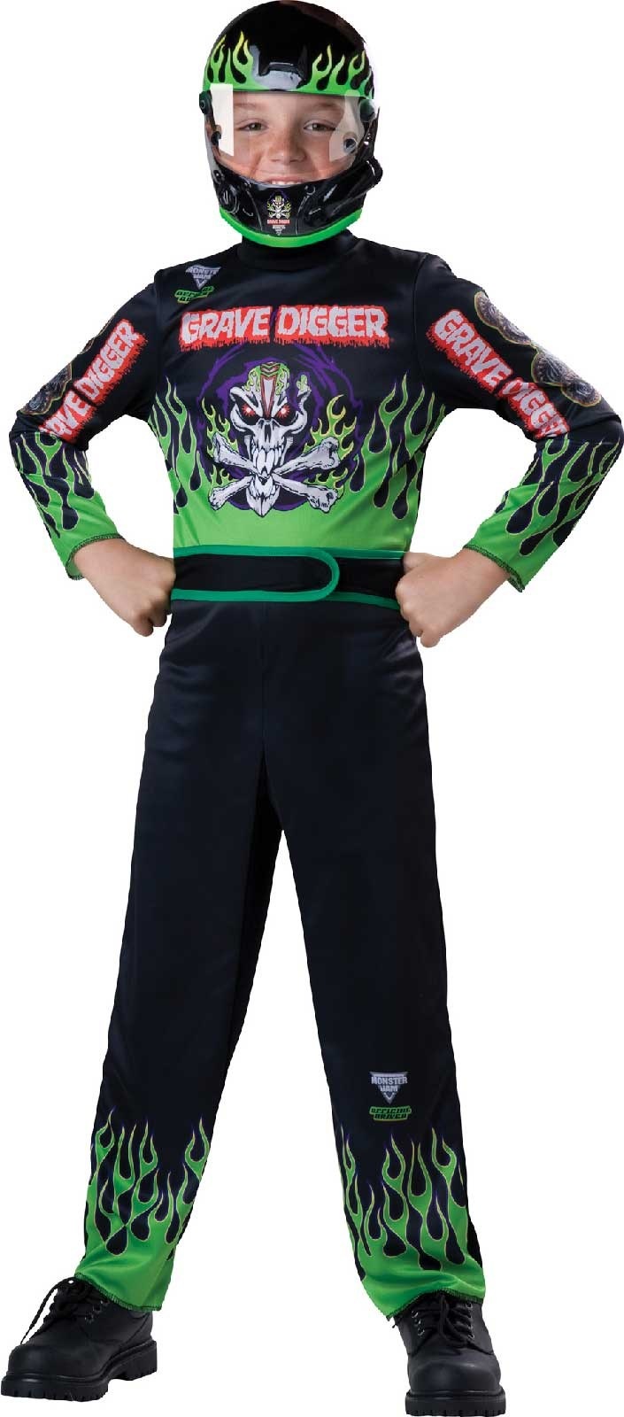 Monster Jam - Grave Digger Child Costume | BuyCostumes.com