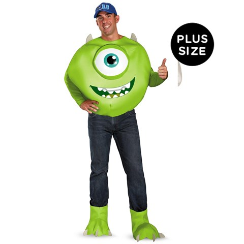 Monsters University Mike Deluxe Plus Adult Costume
