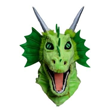 Moving Jaw Green Dragon Mask