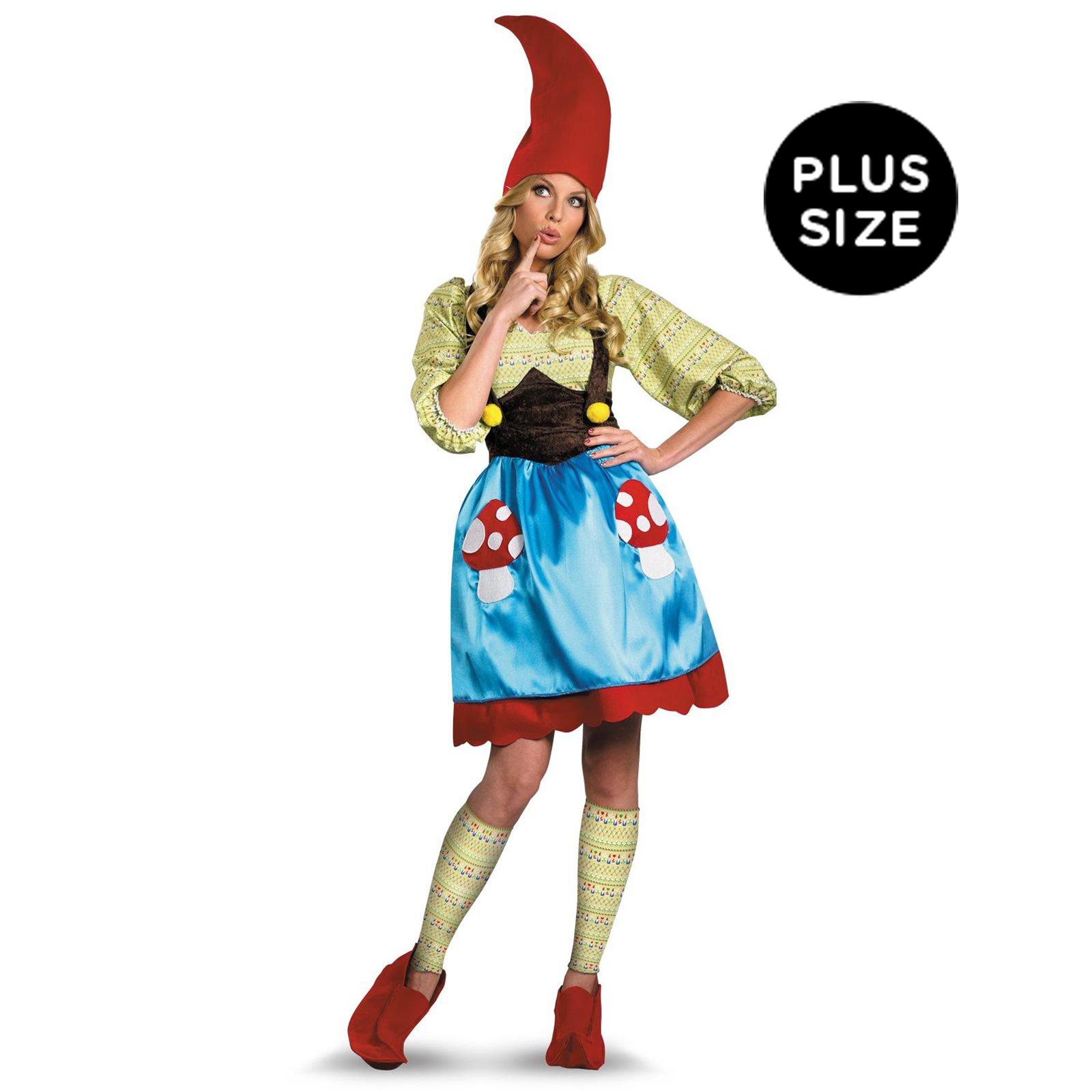 ms gnome adult plus costume
