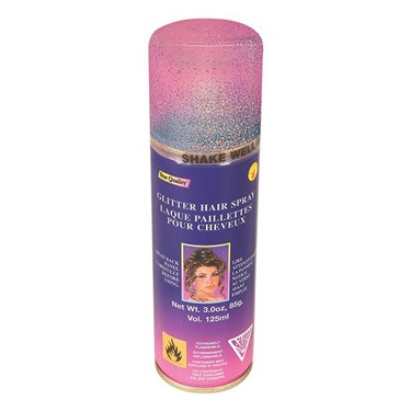 Multi Color Glitter Hairspray