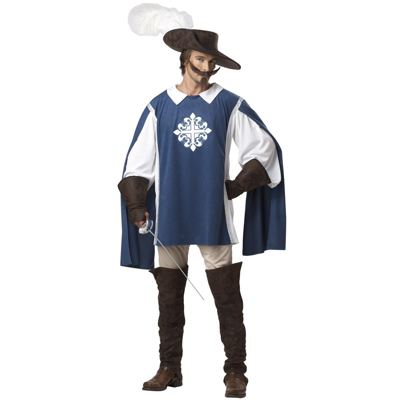 Adult Musketeer Adult Costume- Brown: