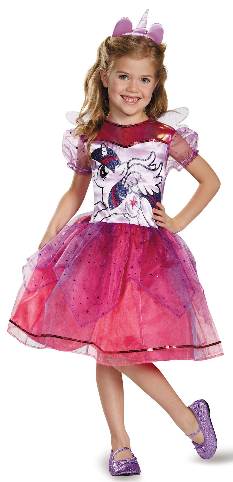 My Little Pony Girls Deluxe Twilight Sparkle Toddler Costume