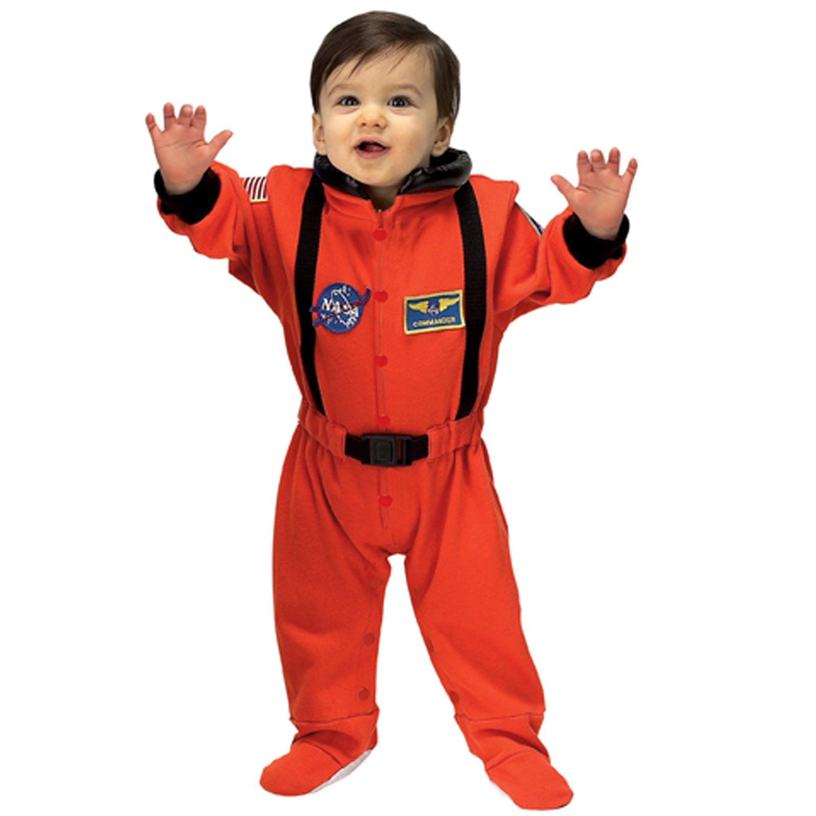 NASA Jr. Astronaut Suit (Orange) Infant Costume | BuyCostumes.com