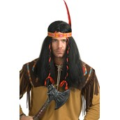 Native American Warrior Mens Wig