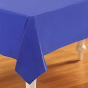 Navy Blue Plastic Tablecover