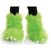 Neon Green Monster Boots For Kids