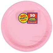 New Pink Big Party Pack - Dessert Plates (50 count)